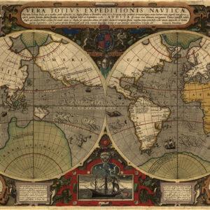 World map 1577-1588