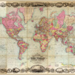 Map of the world 1854